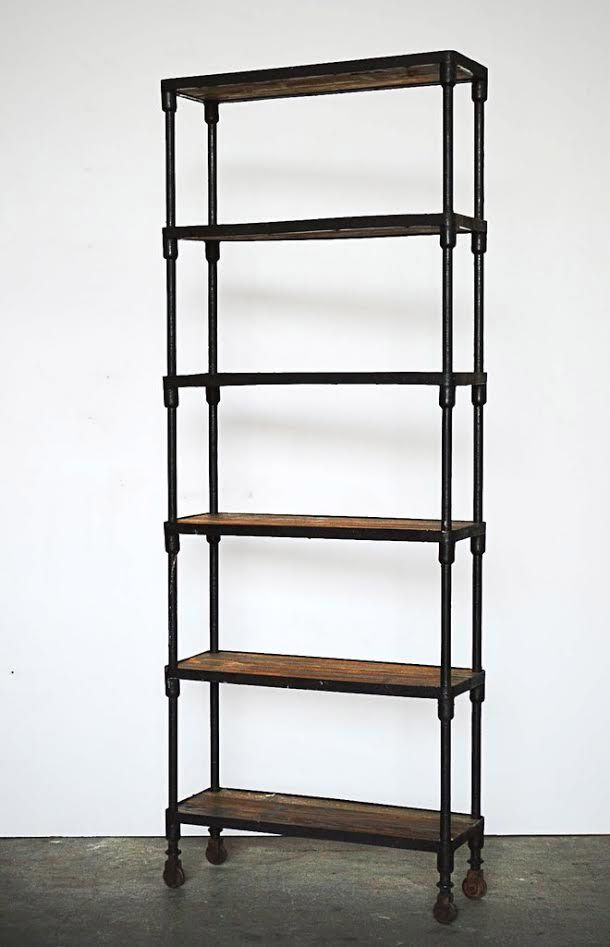Libreria ferro battuto industrial