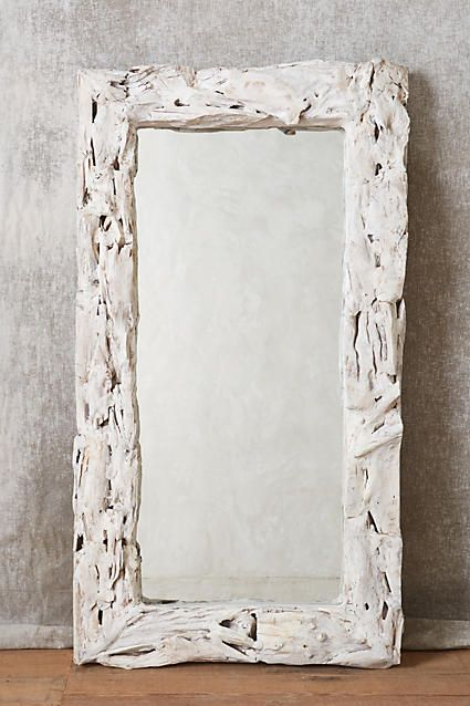 """Driftwood Mirror - anthropologie.com 54""""H, 31""""W 5.5"""" projection"""
