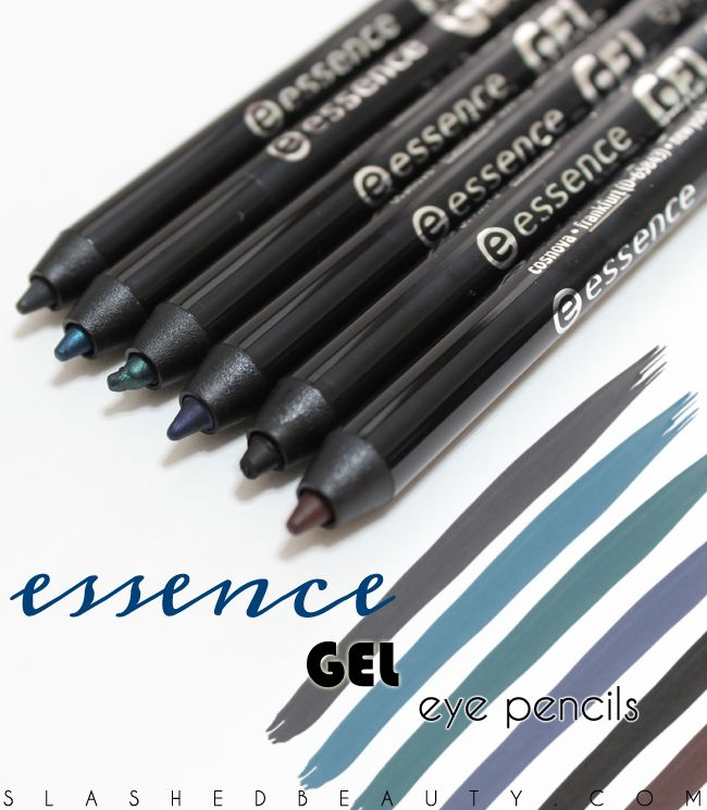Review & Swatches: Essence Gel Eye Pencils   Slashed Beauty