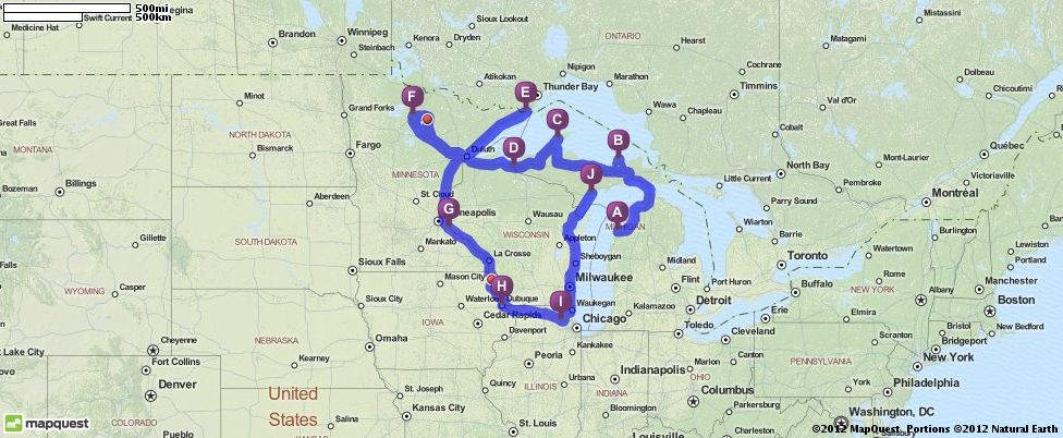 Mapquest Michigan Map.Driving Directions From Honor Michigan To Escanaba Michigan