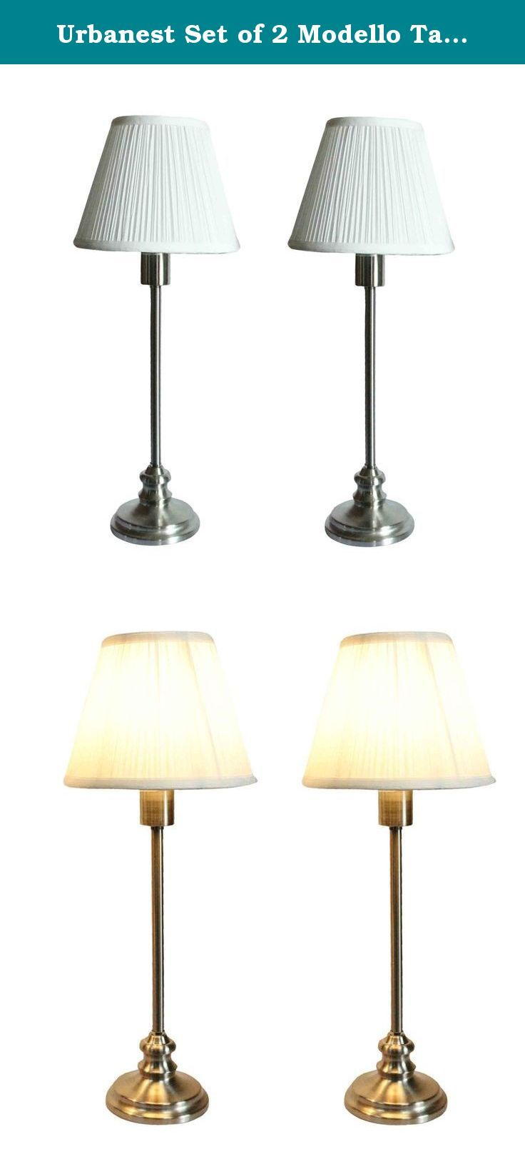 Urbanest Set of 2 Modello Table Lamps in Brushed Nickel
