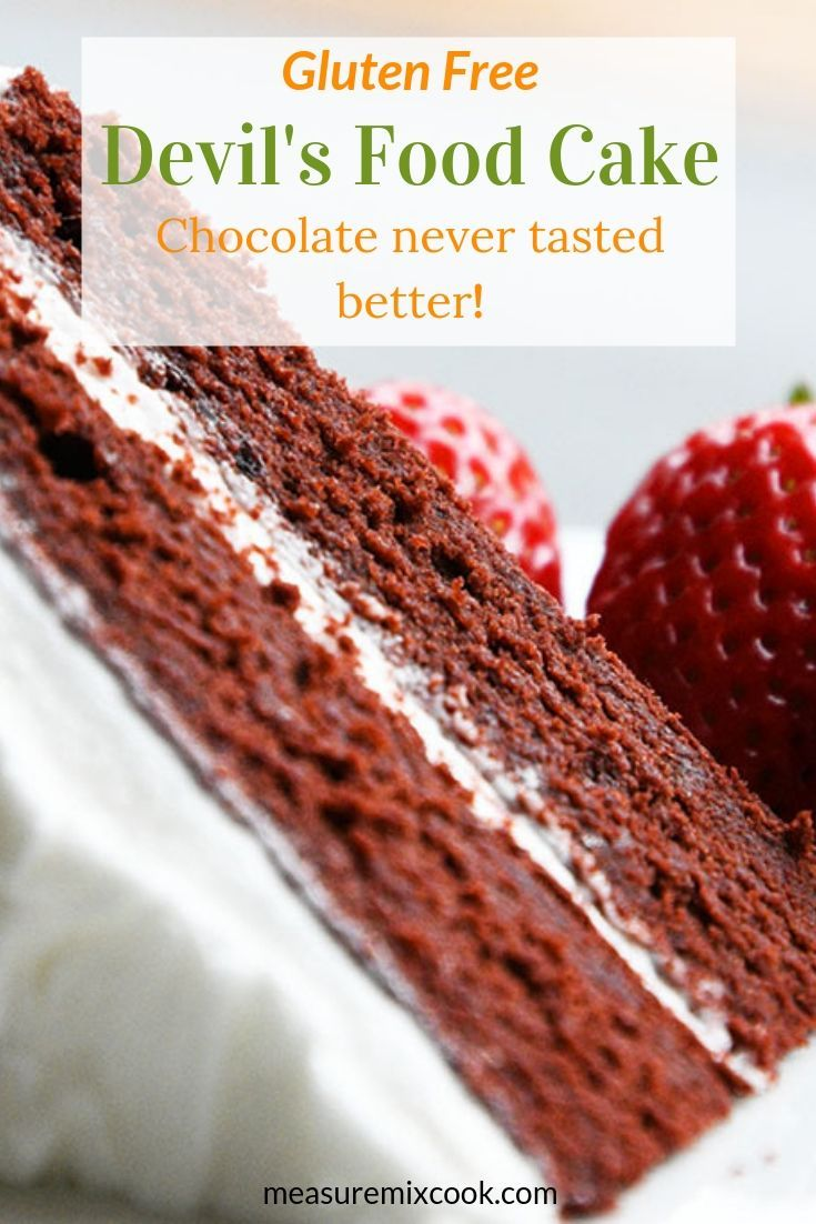 Moist Delicious And Gluten Free This Devil S Food Cake Finishes