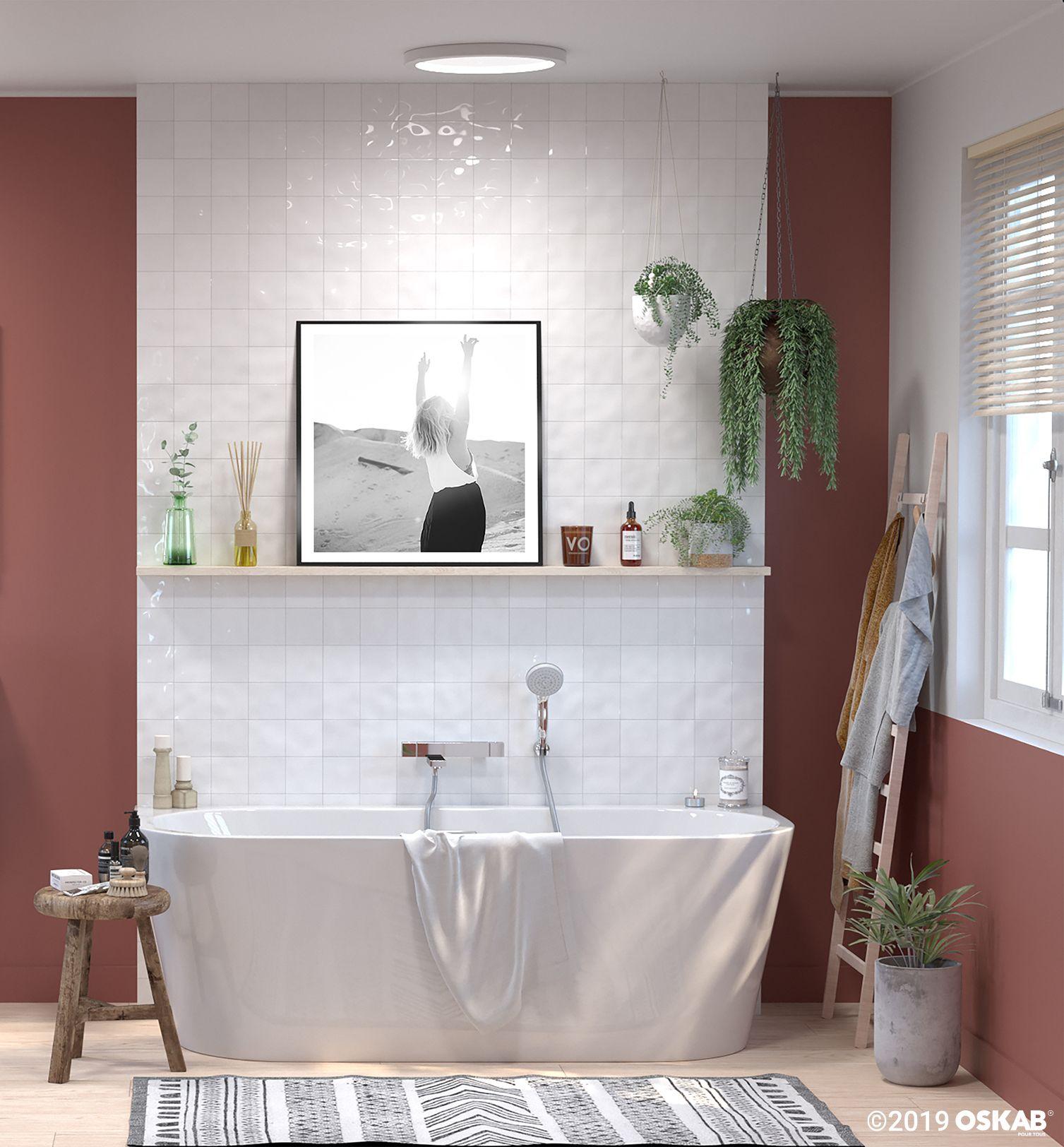 Baignoire Ilot Murale Ovale 170x75 Cm Acrylique Renforce Zeen En 2020 Baignoire Idees Salle De Bain Idee Salle De Bain
