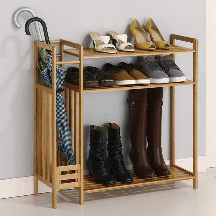 Neu Home 3 Tier Stackable Shoe Rack Storage Homemade Shoe Rack