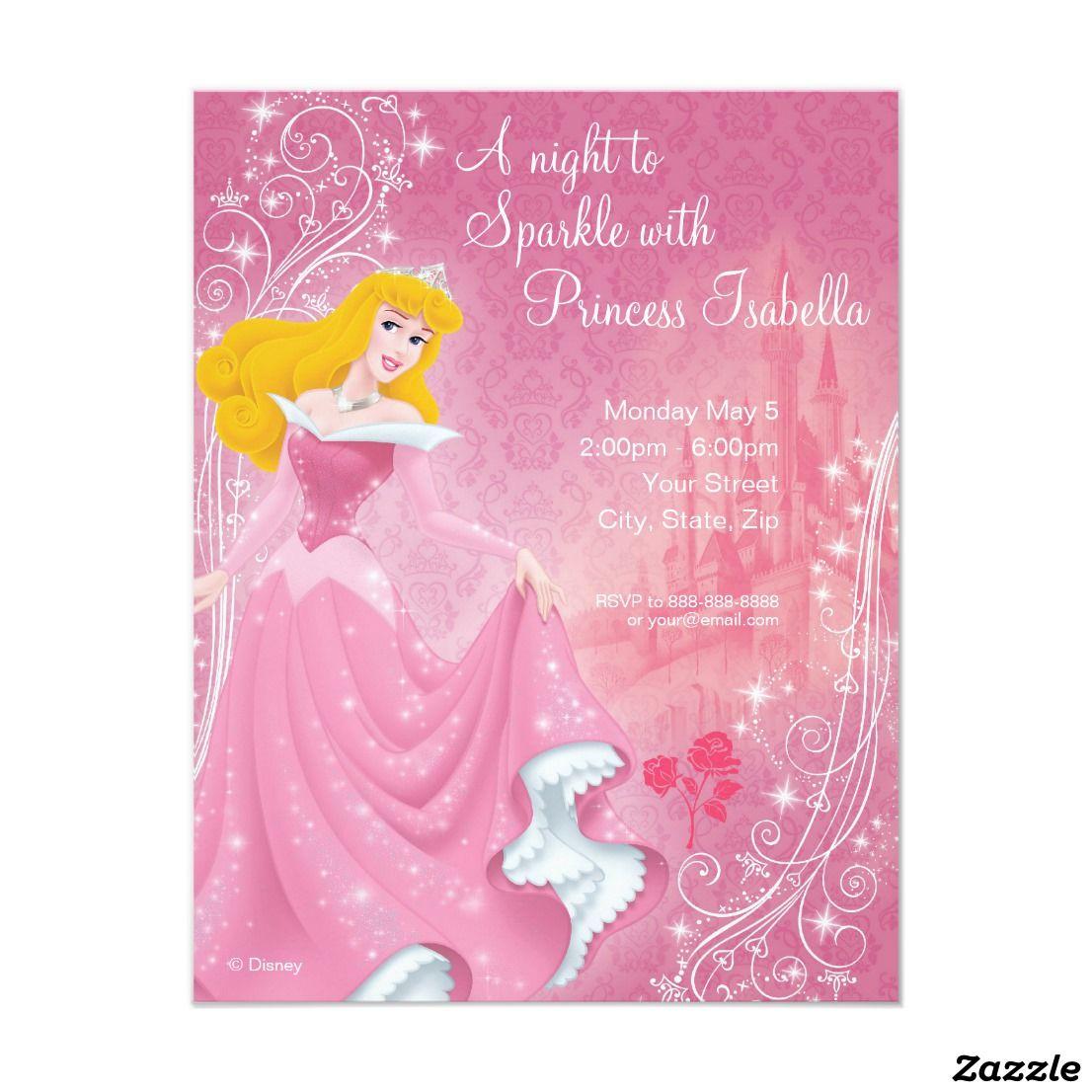 Sleeping Beauty Birthday Invitation | Pinterest | Birthdays