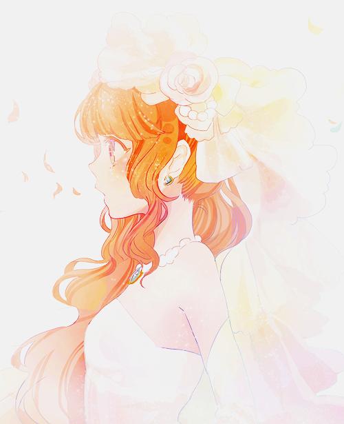 anime girl with orange hair and blue eyes tumblr www