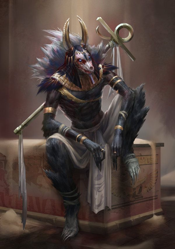 Image from fantasy and syfy..with some cats..NSFW — madcat-world: anubis - yefumm