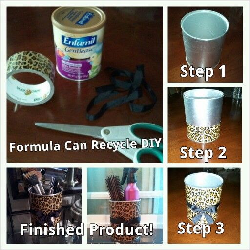 formula can crafts recycle can use any style tape to