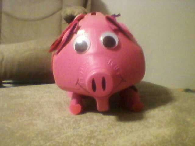 Pig Valentine Box Made From Milk Jug