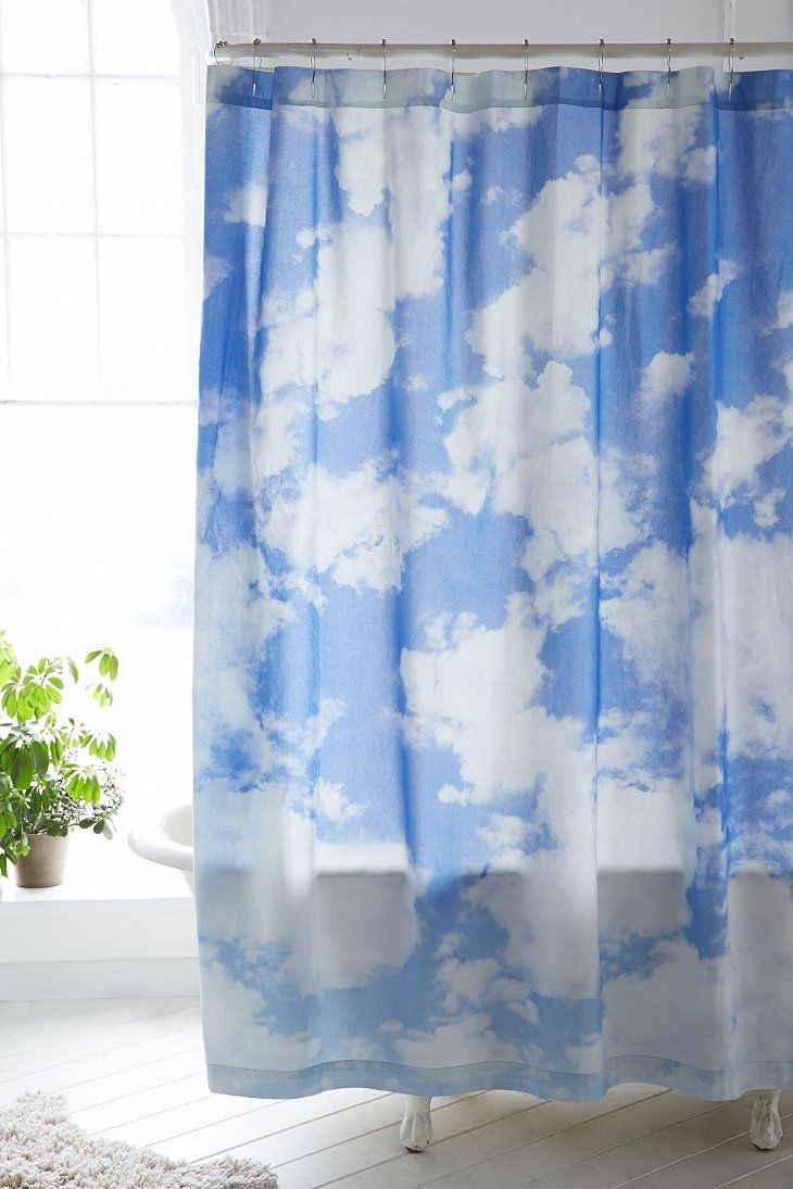 Allover Clouds Shower Curtain Urban Outfitters Curtains