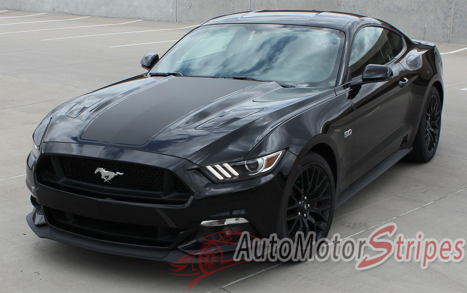 2017 Ford Mustang Super Snake Mega Hood Mohawk Center