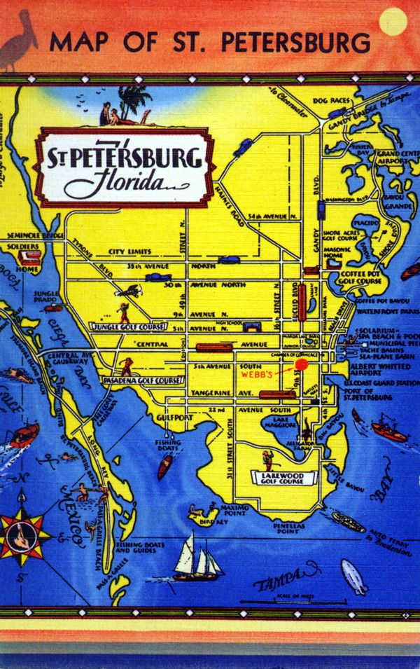 Map Of St Petersburg Florida When Webb City Was Still In Business