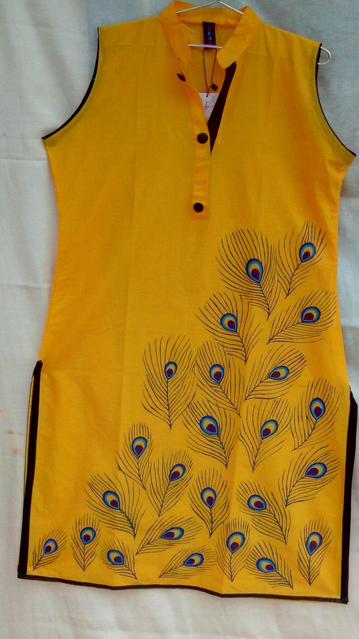 c45eb99d20 Fabric hand painted kurti. Size - xl,100%cotton, length 42