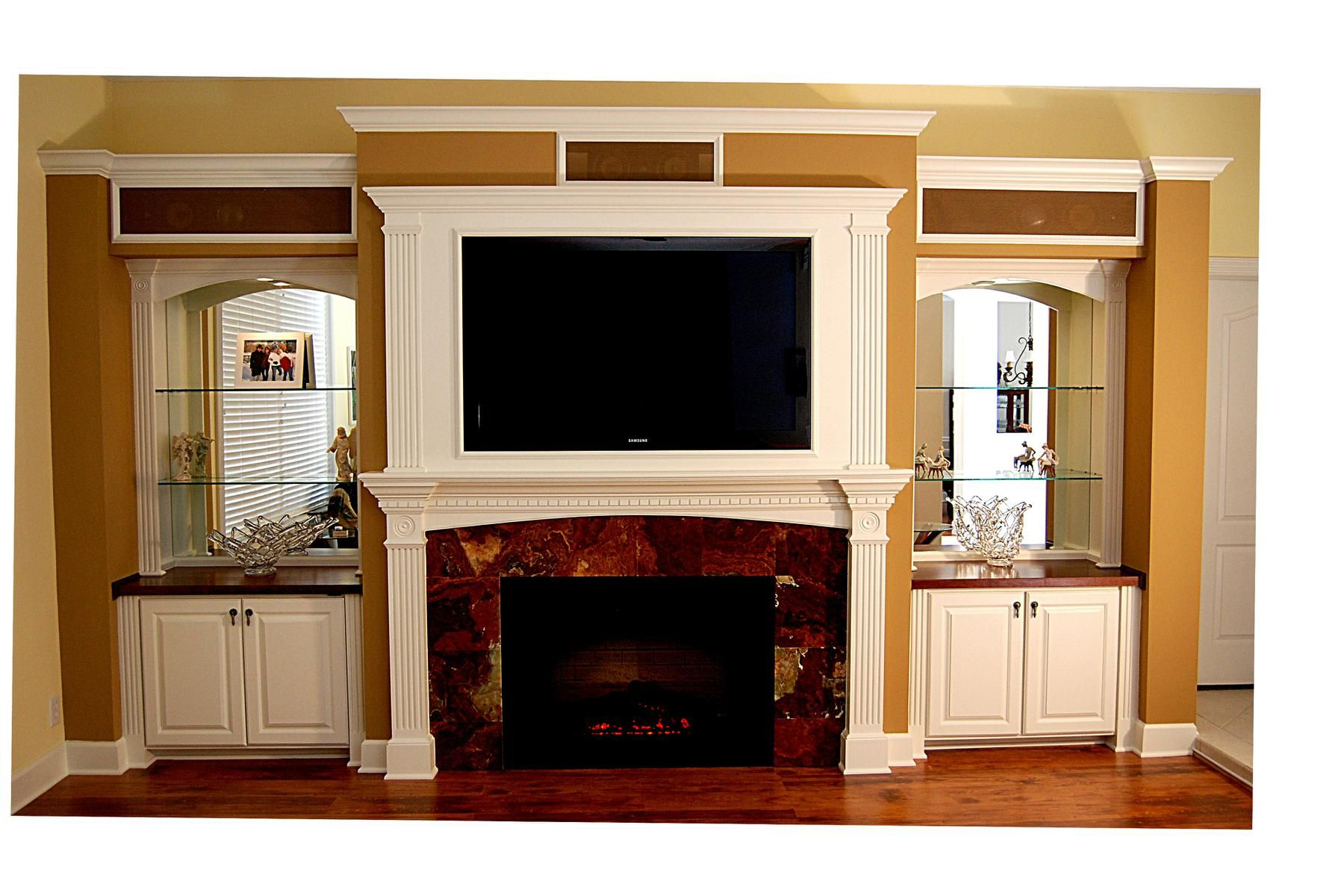 Electric Fireplace Built In Entertainment Center Home