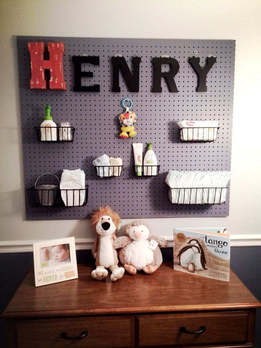 Diy Pegboard Changing Table Baby Room Organization Diy Nursery Organization Diy Baby Room Organization