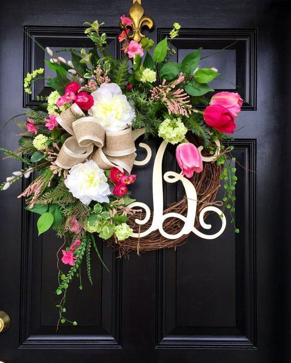 Spring Wreaths Summer Front Door By Fleursdelavie
