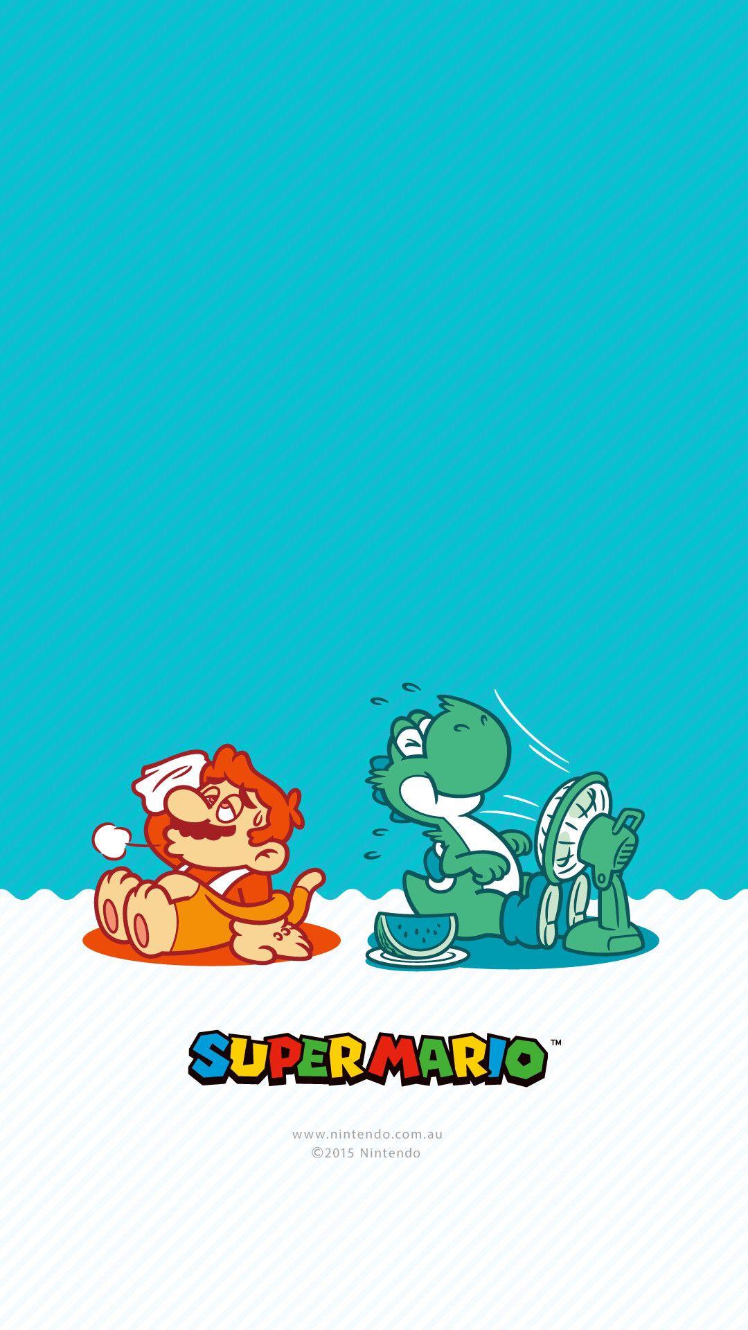 Mario And Yoshi Take A Break Nintendo Art