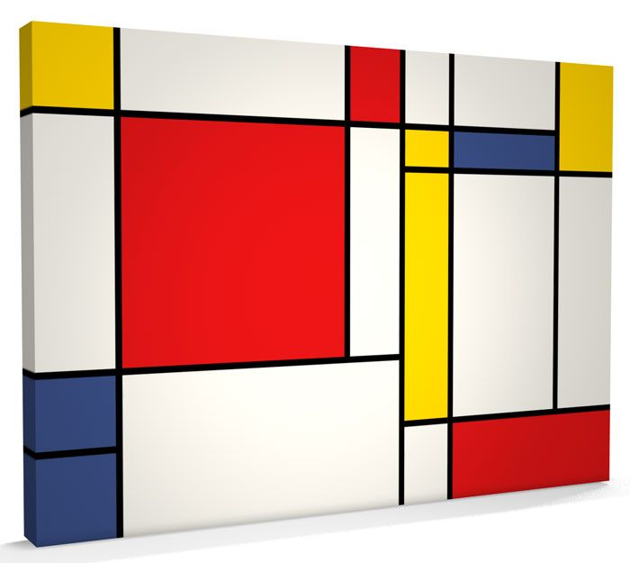 """Composition with Blue and Yellow,"""" 1932, Piet Mondrian 