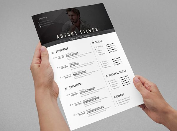 Pretty clean and unique resume layout and resume design overall - unique resume designs