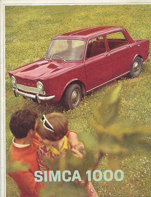 simca 1000 publicit auto vintage pinterest talbots cars and vehicle. Black Bedroom Furniture Sets. Home Design Ideas
