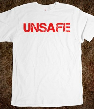 Cool Marilyn Manson-Inspired 'Unsafe' Stencil T-Shirt