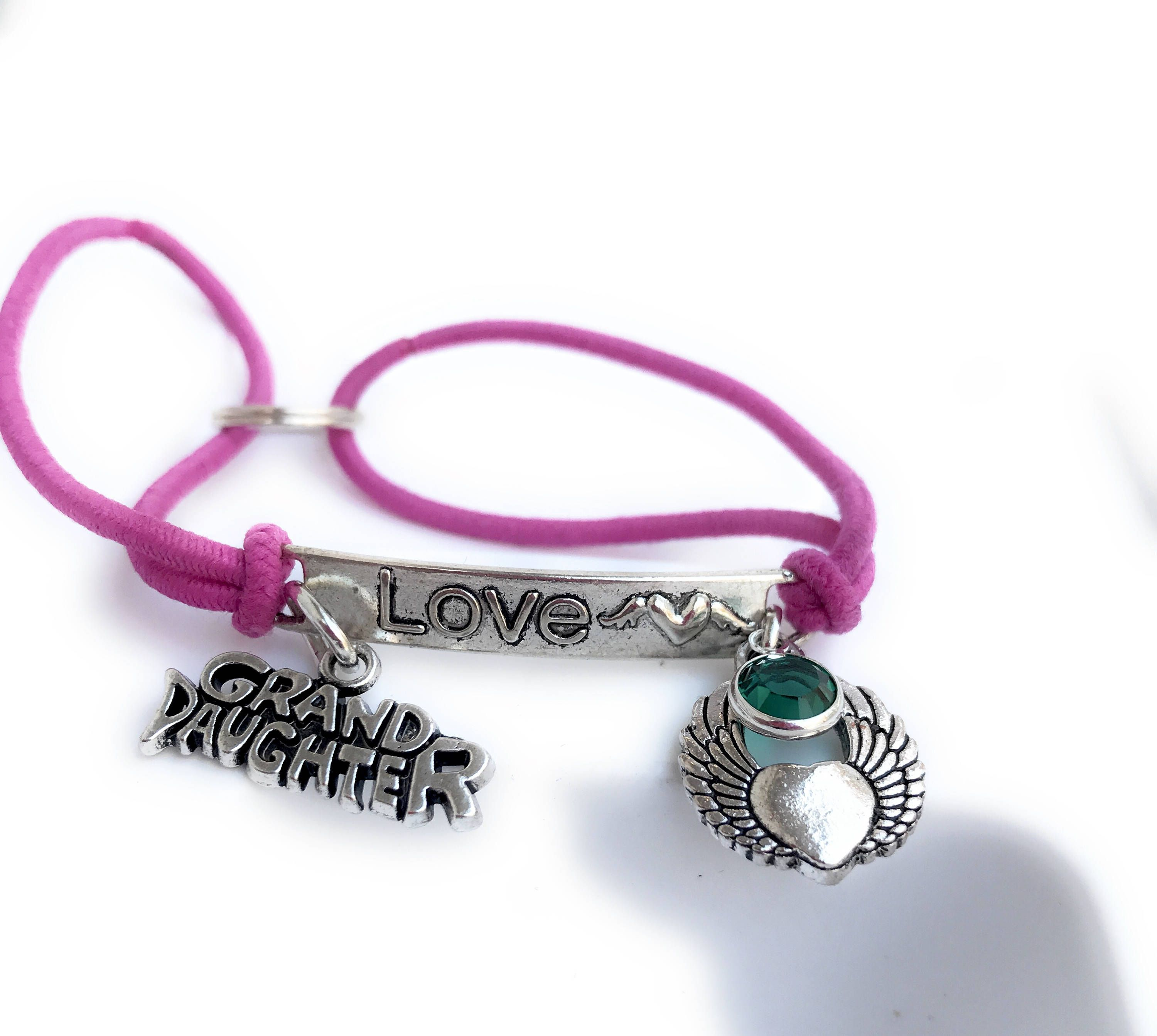 giftss Wrapped Heart Wing Fly High  Guardian An gelGrief Loss Bracelet In loving memory of