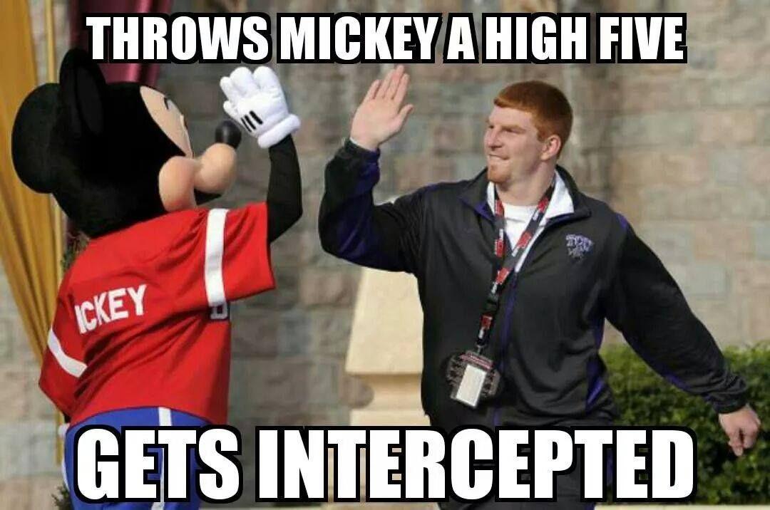6bb0d318450684f931b9482ae127b92f andy dalton intercepted by mickey memes pinterest memes