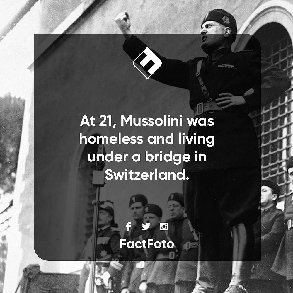 Musolini History Factfoto Facts Snapple Facts Wtf Fun Facts Fun Facts