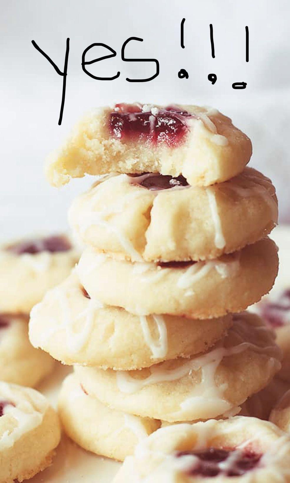 Photo of Raspberry Almond Shortbread Cookies