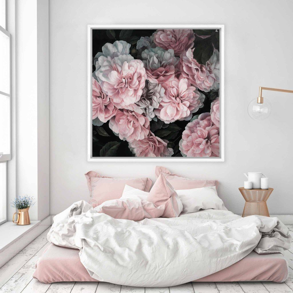 Pink blooms canvas square house schlafzimmer m bel schlafzimmer ideen - Schlafzimmer pink ...