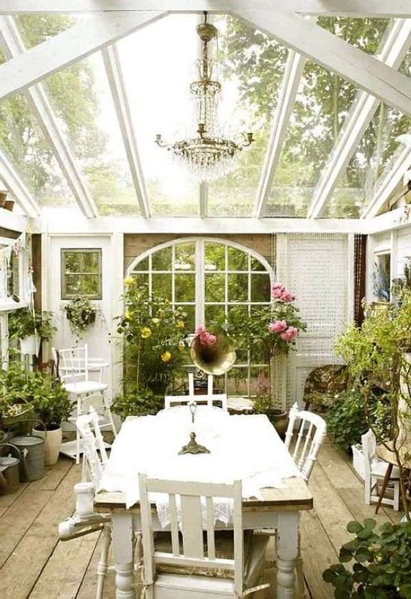 Cottage Porch Decorating Ideas For The Winter Garden Room