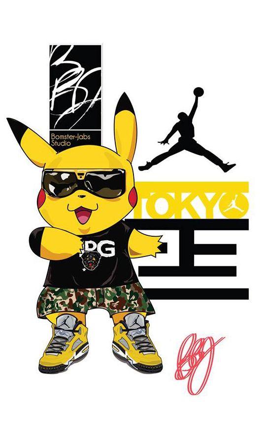 Pikachu X Air Jordan 5 Tokyo 23 Gangsta Stuff