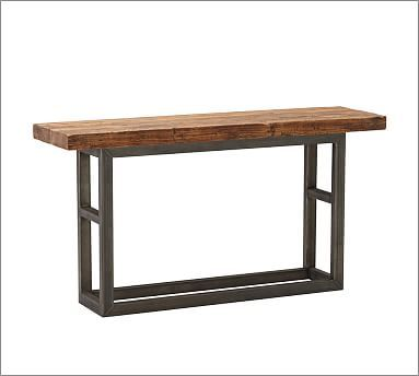 Entry Way Table Pb Griffin Reclaimed Wood Console 68 Wide X 19 Deep 36 High