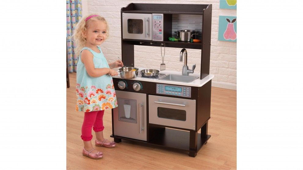 KidKraft Espresso Toddler Kitchen - Kids Cooking, Arts ...