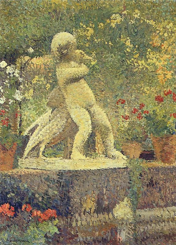 Henri Martin - The Child With Goose - WikiArt.org