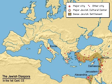 The following map shows Judaism's religious hearths and holy ...