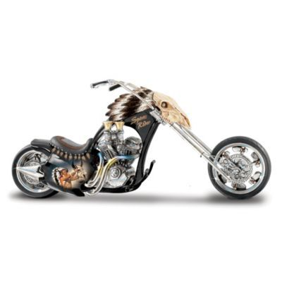 Road Warriors Native American Inspired Motorcycle Figurine Collection Go Shop Bradford Exchange American Chopper Motorcycle Figurine Monster Bike