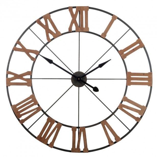 horloge murale xxl d100 cm ronde avec chiffres romains style