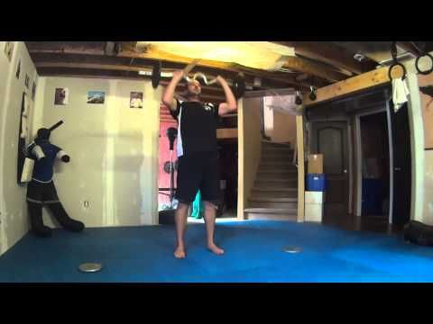 full body strength circuit with ez curl bar  youtube