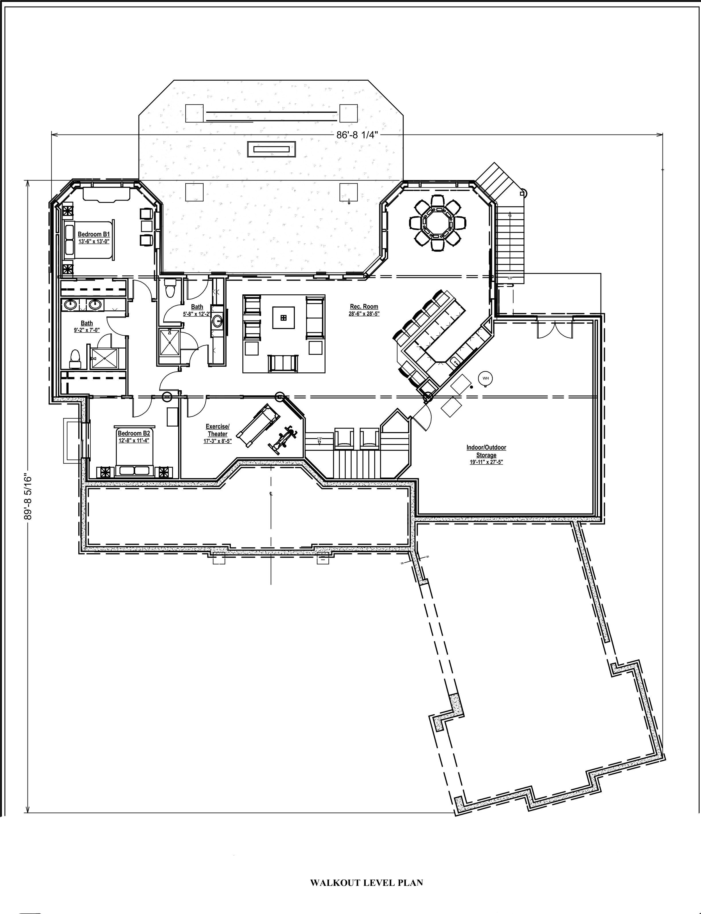 2 Bedroom Transitional Ranch House Plan 2605 Sq Ft, 2.5