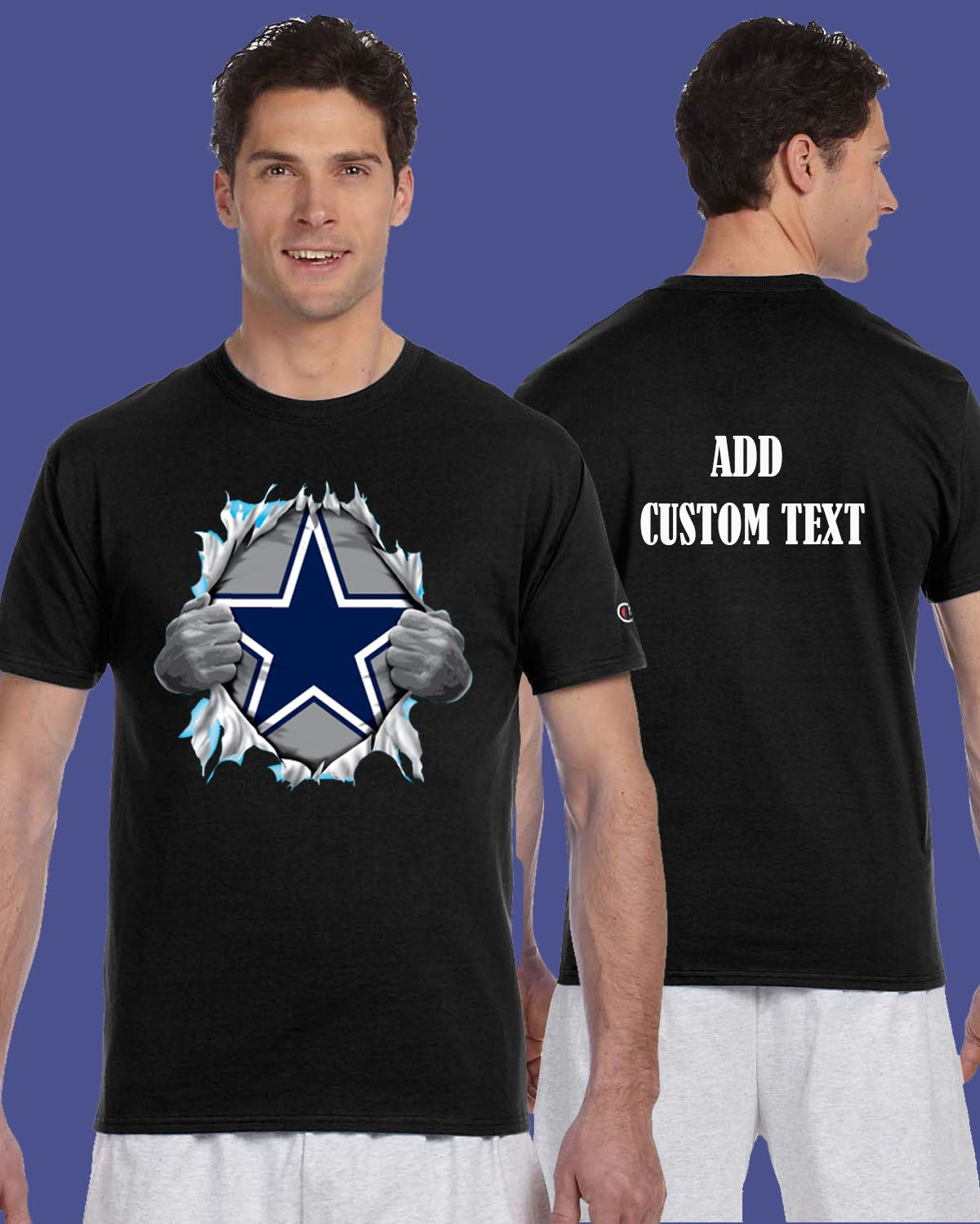 888aa7b4 Dallas Cowboys Tearing Throught Chest Superman T Shirt Add ...
