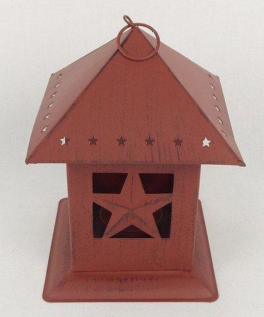Take a look at this Red Tin Lantern by Craft Outlet on #zulily today!