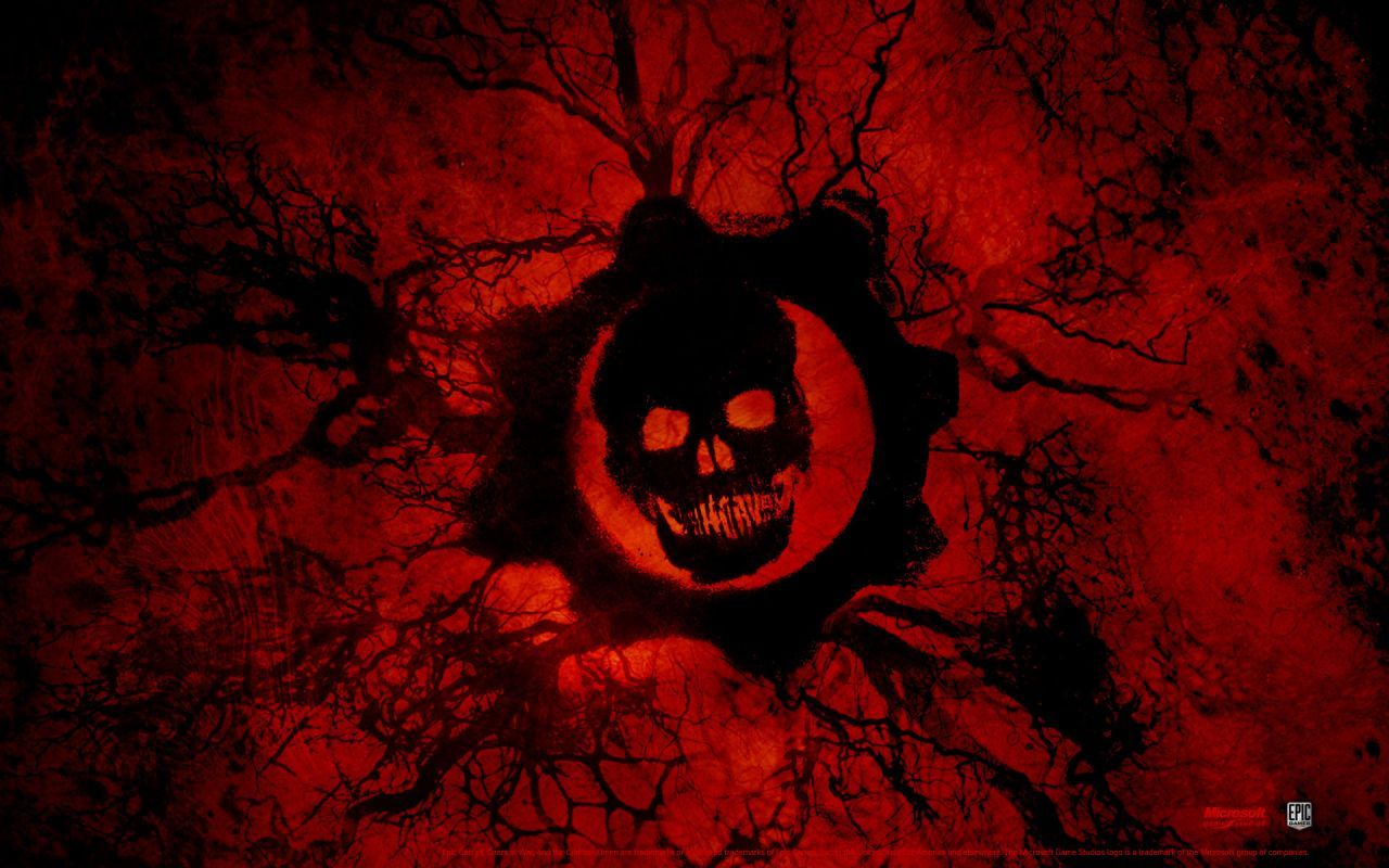 Red Skull Wallpaper Hd Black And Red Skull Wallpapers Gears Of War Gears Of War 3 Screenshots