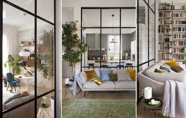 Dividere gli spazi per unirli con una parete vetrata - Cucina con vetrata ...