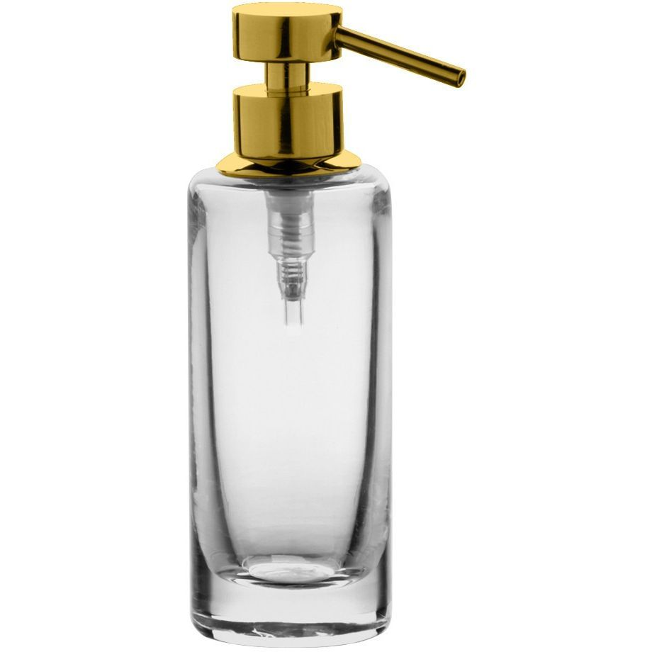 Addition Clear Glass Table Pump Liquid Soap Lotion Dispenser for ...