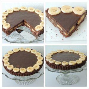 hriešny čokoládovo banánový koláč