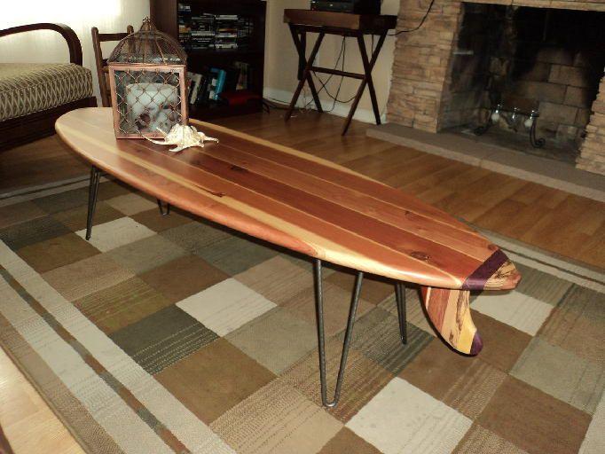 Surfboard coffee table 379 duke kahanamoku pinterest for Surfboard coffee table