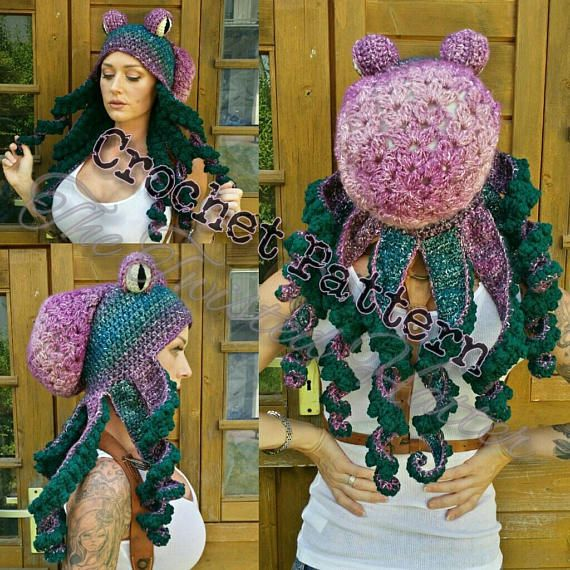 Updated Crochet Octopus Hat Aka Twisted Kraken PATTERN (pls read description before buying)