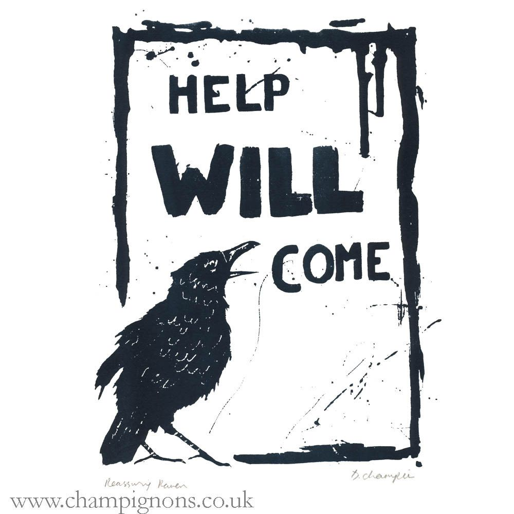 Reassuring raven original silkscreen print ravens plywood and originals biocorpaavc