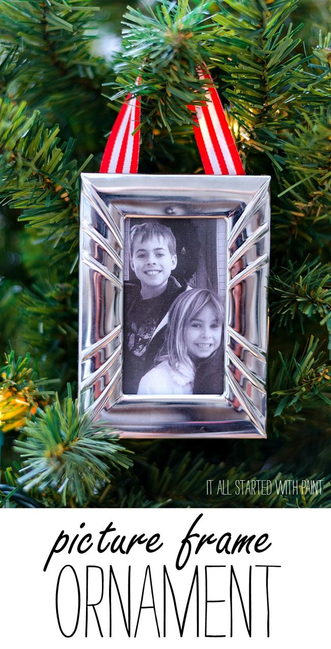 Picture Frame Ornament | Pinterest